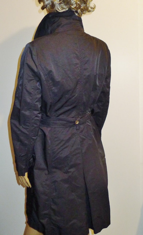 CINZIA ROCCA vintage navy blue trench coat - Sz 8 - image 4