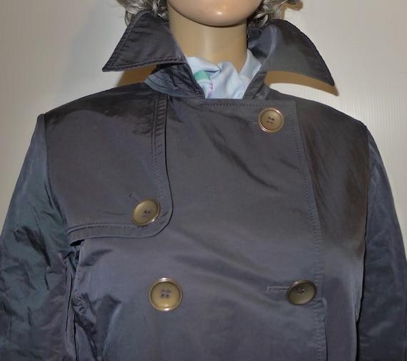 CINZIA ROCCA vintage navy blue trench coat - Sz 8 - image 3