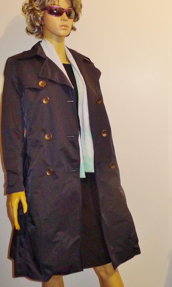 CINZIA ROCCA vintage navy blue trench coat - Sz 8 - image 6