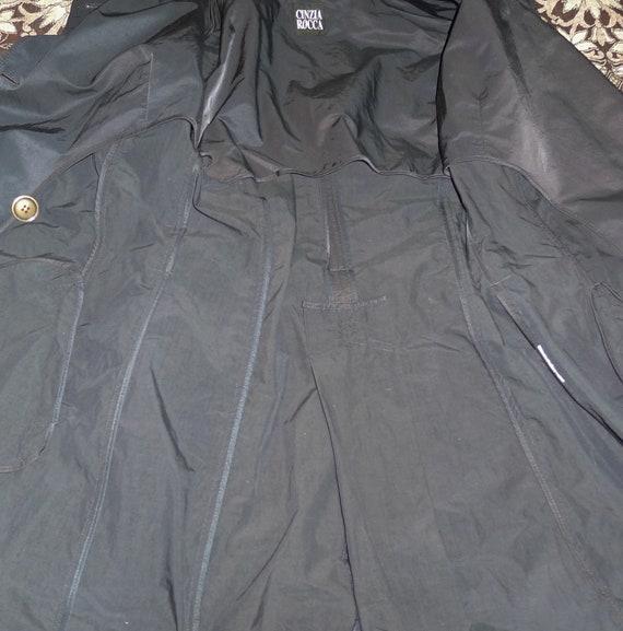 CINZIA ROCCA vintage navy blue trench coat - Sz 8 - image 7