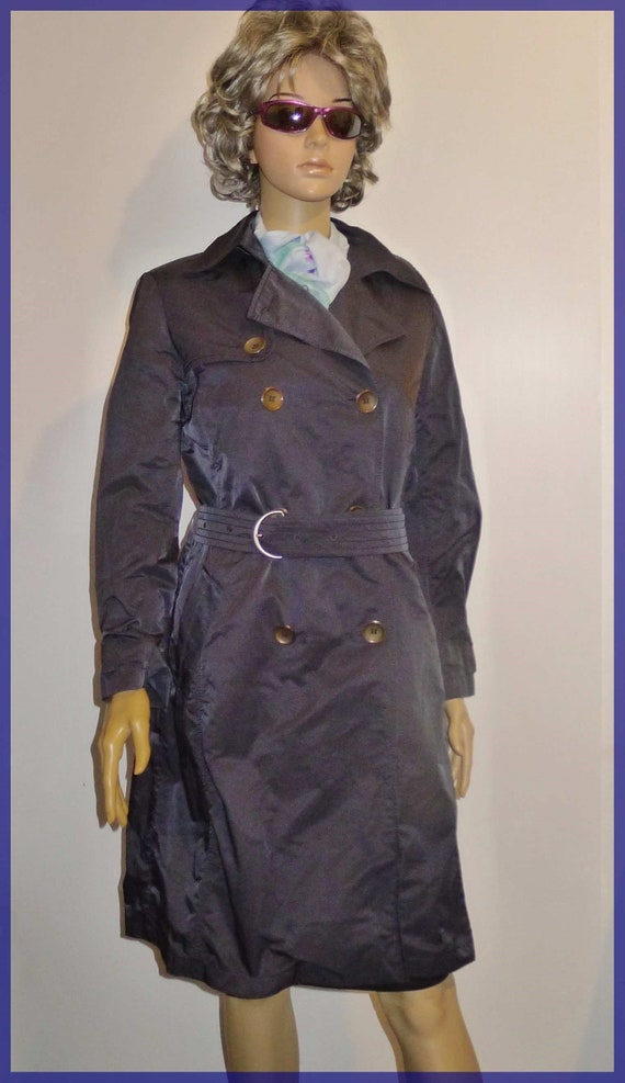CINZIA ROCCA vintage navy blue trench coat - Sz 8