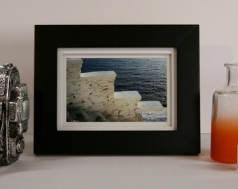 "4""x6"" Framed Tabletop Photograph - Stairs on Andros Island, Greece"