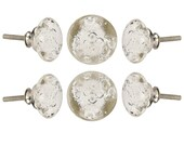 Clear Bubble Glass Knob Set Of 6 Decorative Handle For Kitchen Cabinet Cupboard Door Wardrobe Office Drawer Handle Pull By Perilla Home