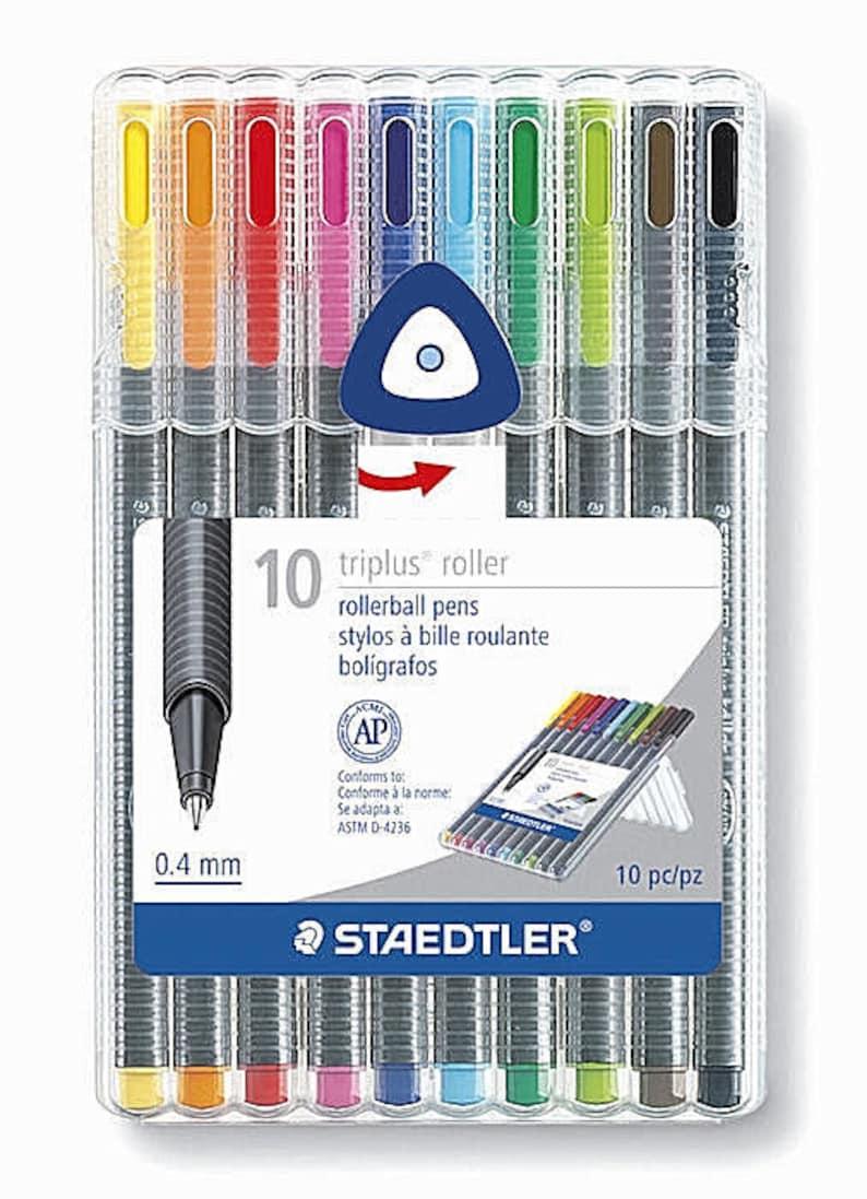 set 0.4 mm Made in Germany STAEDTLER Triplus Rollerball Pens 10pc