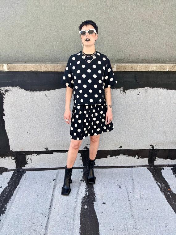 Silk Polka Dot Set