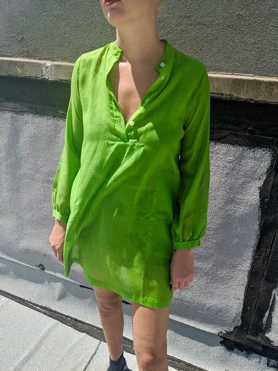 Vintage Lime Green Dress