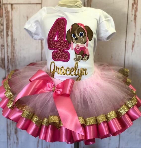 Birthday Tutu Skye outfit First Birthday Dress Skye Paw patrol Birthday Outfit Ribbon Tutu