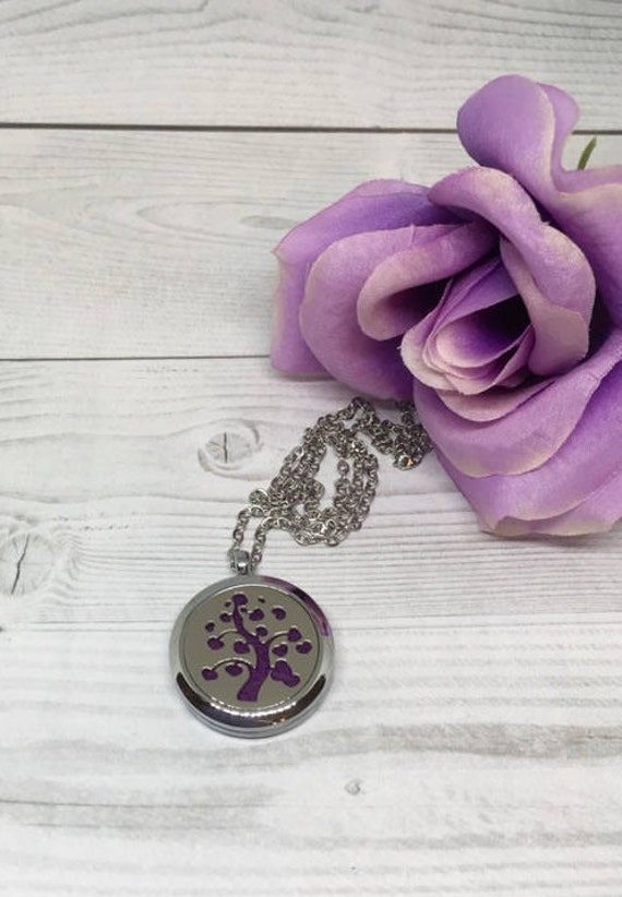 Aroma Diffuser Flower Necklace Lockets scent Essential Oil Aromatherapy 161