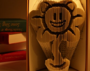 Flowey from UNDERTALE || Folded Book Art
