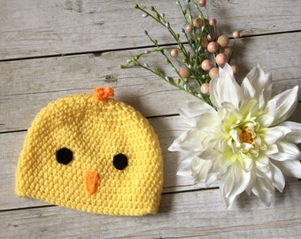 88fffa5128c9 Crochet Chick Hat - Baby Chick Hat - Easter Hat - Easter Chick - Spring Chick  Hat - Photo Prop - Baby Hat - Infant Hat - Chick Hat