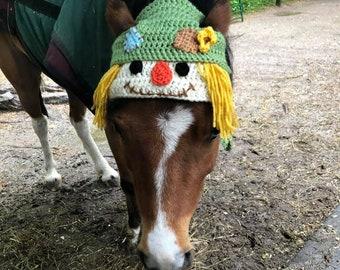 Horse Bonnet - Horse Scarecrow - Horse Hat - Horse Costume - Scarecrow - Costume - Equine Hat