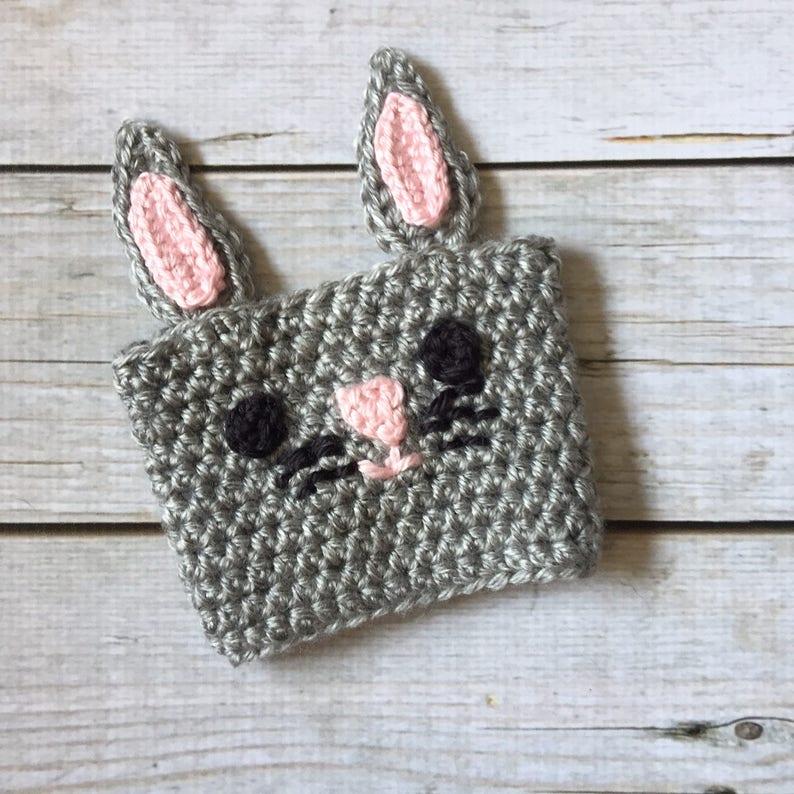 Bunny Coffee Cozy  Crochet Cozy  Mug Cozy  Coffee Sleeve  image 0
