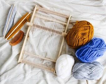 weaving loom, Tapestry loom and tools kit, Frame loom with heddle bar, loom kit, weaving loom kit, weave kit, wooden weave loom, lap loom