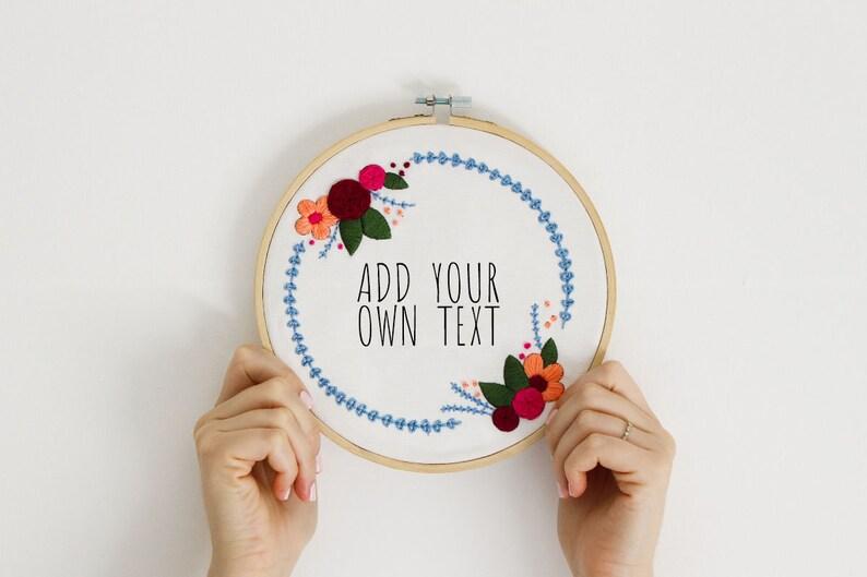 Custom Floral Embroidery Kit For Beginner, Modern Embroidery Kit, Hand  Embroidery Kit, Custom Embroidery Pattern, DIY Embroidery Kit