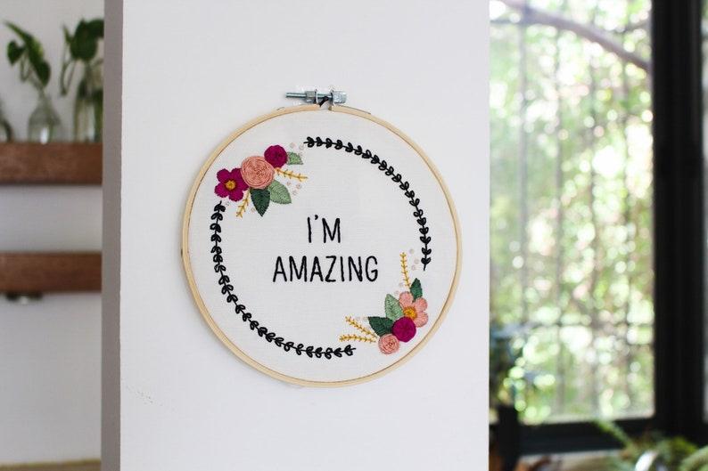 DIY Kit Christmas Gift Floral Embroidery Kit For Beginner Modern Embroidery Kit Hand Embroidery Kit
