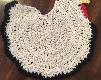 Crochet Chicken Pot Holder