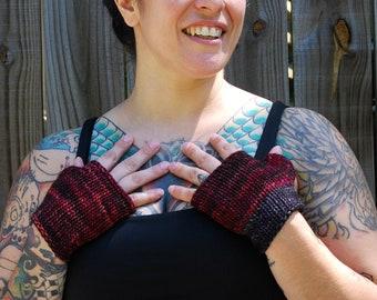 100% Wool Fingerless Gloves