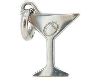 83b9a1bb8 Circa 1990s Tiffany and Co Sterling Silver Martini Pendant, VJ#7B