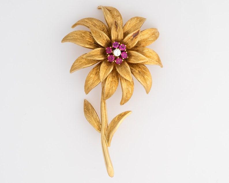 191583038 Tiffany & Co. 1950 18k Yellow Gold Diamond Ruby Italian   Etsy