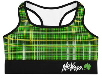 Plaid sports bra | Etsy