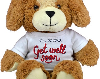 NEW Get Well Soon White T-Shirt Cute And Cuddly Teddy Bear Gift Present