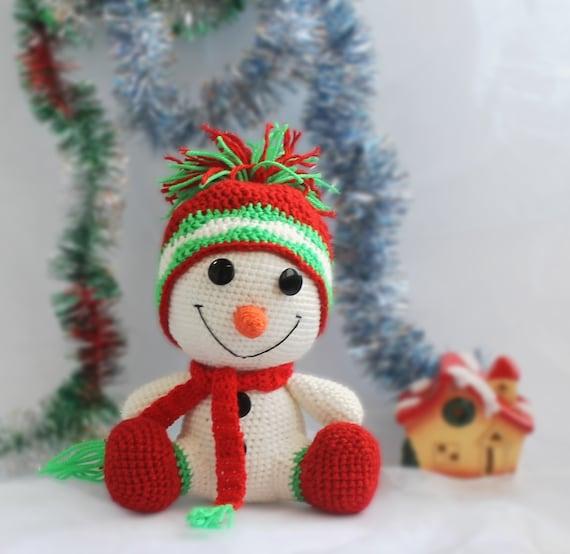 Häkeln Weihnachts Geschenk Schneemann Dekor Etsy
