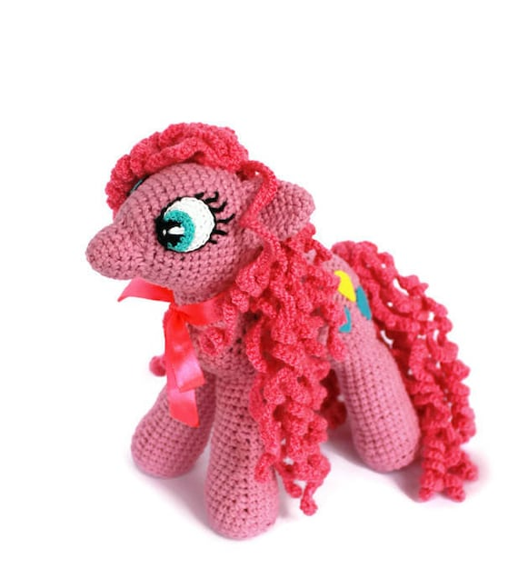 My Little Pony Plush Crochet Pony Birthday Party Gift For Girl Etsy