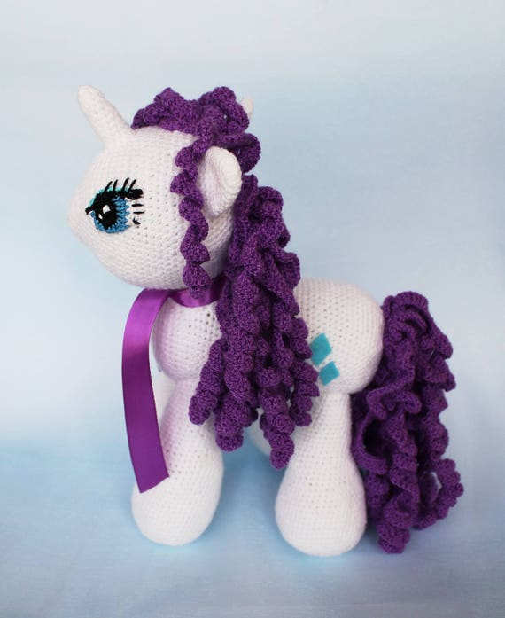 My Little Pony Plush Crochet Stuffed Unicorn Gift Unicorn Etsy