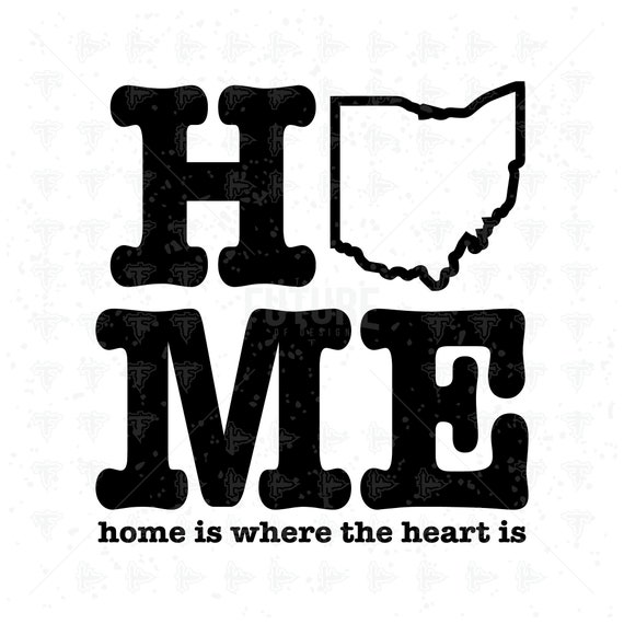 Ohio Map Heart Cursive State Pride Drip Represent SVG DXF EPS Artwork Design Cutting File Cricut Explore Vinyl Cutter 0143 Cutting Master