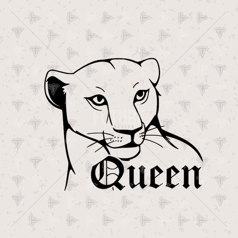 Queen Lioness Lion Couples Matching Girlfriend SVG DXF EPS Artwork Design Cutting File Cricut Explore Vinyl Cutter 0087 Cutting Master