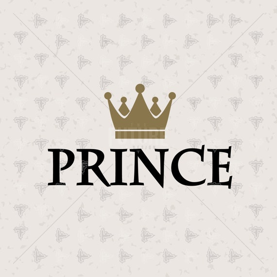 Vinyl Cutter 0094 Their Prince With a Crown Little Guy Kid Family SVG DXF EPS Artwork Design Cutting File Cricut Explore Cutting Master