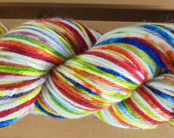 8Ply (DK), hand-dyed yarn, 100g  - Rainbow Sprinkles