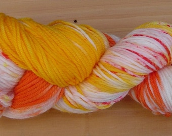 100g Hand-dyed, 100% pure wool, 8ply yarn - Tropicana