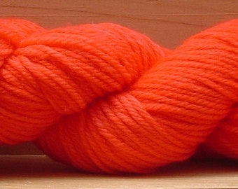8Ply (DK), hand-dyed yarn, 100g - Red