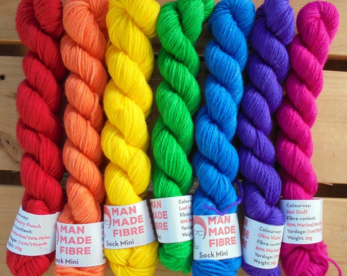 Merino (4ply) 20g Mini Set - Bright Rainbow