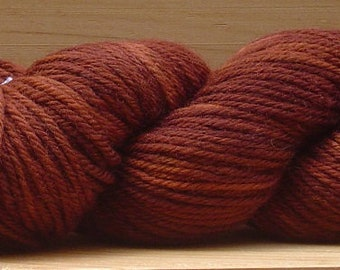 8Ply (DK), hand-dyed yarn, 100g - Chocolate