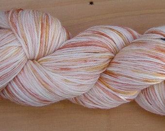100g Hand-dyed sock yarn - Caramel Swirl