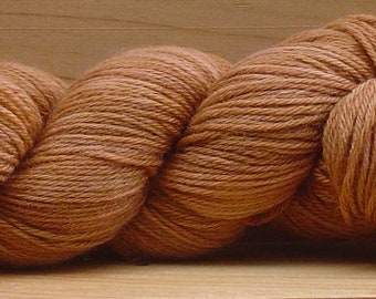 Sock (4ply), hand-dyed yarn, 100g - Tan Square