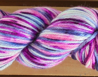 8Ply (DK), hand-dyed yarn, 100g  - Impossible Princess