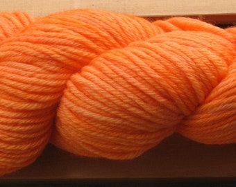 10Ply, hand-dyed yarn, 100g - Orange