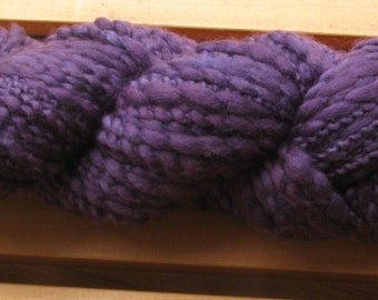 Thick-N-Thin, hand-dyed yarn, 100g - Deep Purple