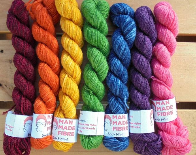 Merino (4ply) 20g Mini Set - Dark Rainbow