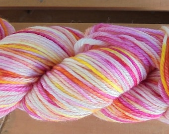 8Ply (DK), hand-dyed yarn, 100g  - Sherbert Cocktail