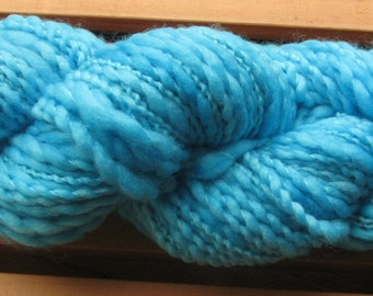 Thick-N-Thin, hand-dyed yarn, 100g - Sky Blue
