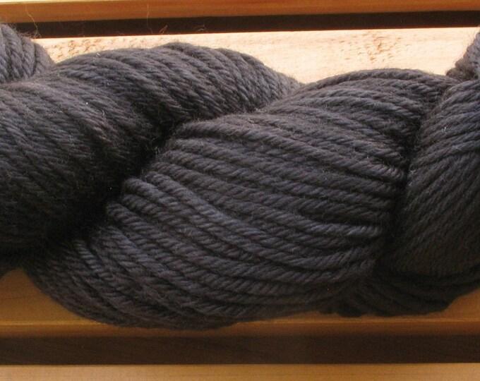 10Ply, hand-dyed yarn, 100g - Nightmare Black