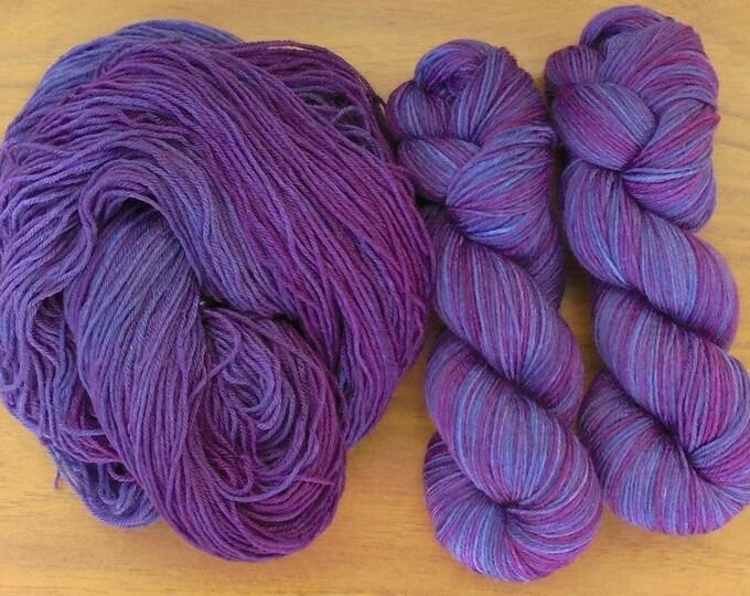 Sock (4Ply), hand-dyed yarn, 100g - Random Dyed Purple