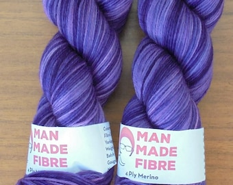 4Ply Merino, hand-dyed, 100g - Two Tone Purple