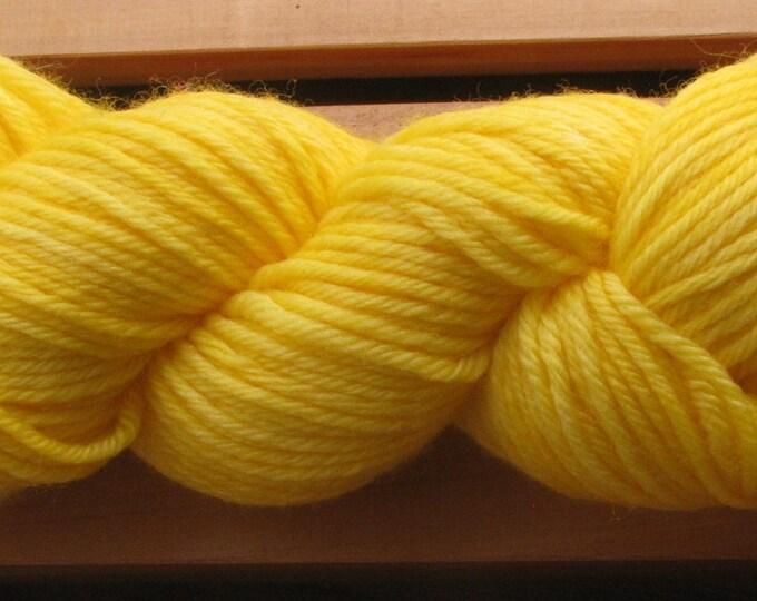 4Ply Merino, hand-dyed yarn, 100g - Golden Yellow