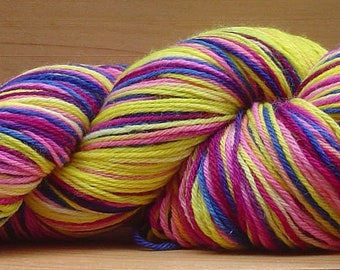 Sock (4Ply), hand-dyed yarn, 100g - Tropical Sunset