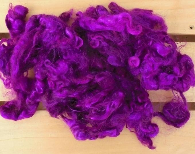 50g Hand-dyed Mohair Locks - Purple